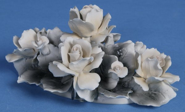 5: Large Bisque Capodimonte Floral Centerpiece