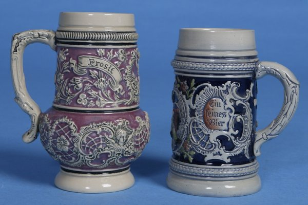 10: 2 Mid 20th Century German Pottery Steins