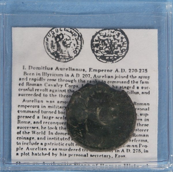 12: Early Roman Bronze Coin