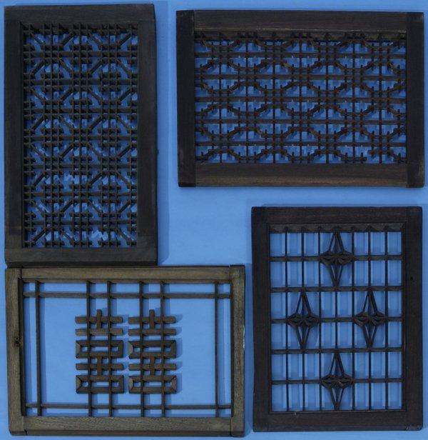 18: 14 - 19th Century Japanese Wooden Window Panels