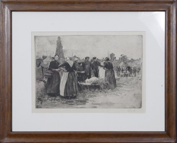 19: Early 20th Century Dutch School Etching on Paper