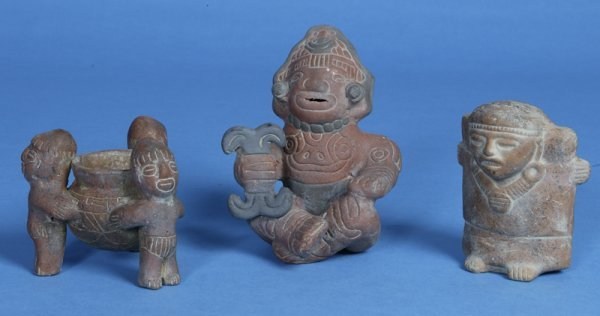 20: 3 Pre-Columbian Style Pottery Items