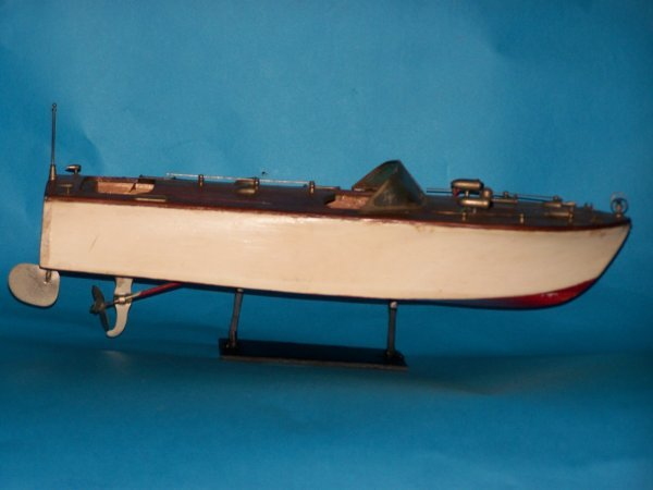 22: Early 20th century wooden pond boat
