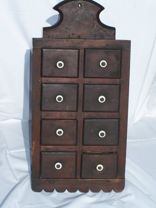 21A: Exceptional 19th Cent. Hanging Spice Cabinet