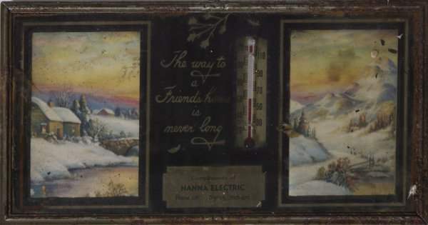 2: Circa 1940 Advertising Thermometer / Picture