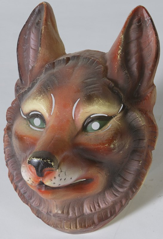 12: Early 20th C. Celluloid French Mardigras Mask