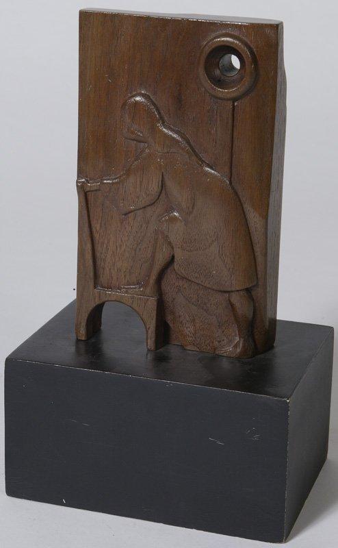 13: Late 20th C. American School, Carved Modern Sculptu