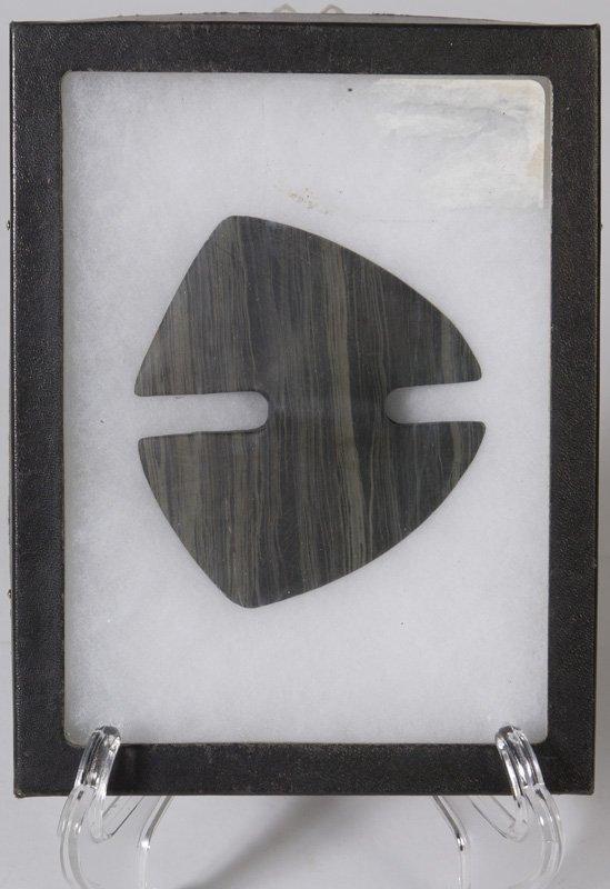 18: Handmade Native American Slate Banner Stone Pendant