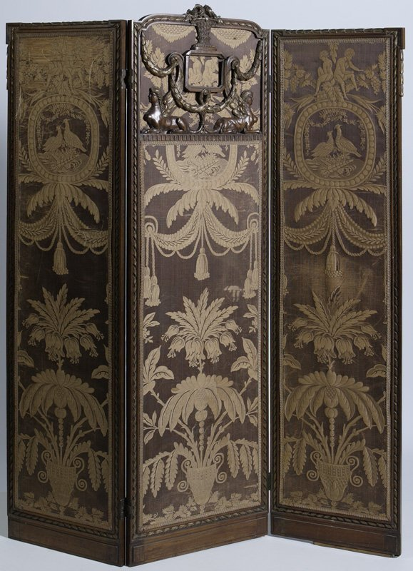 24: Early 20th C. Hand Carved Fr. Louis XVI Dressing Sc