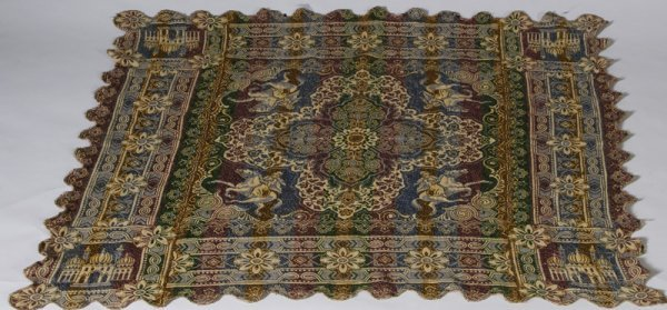 326: Early 20th C. Machine Woven Russian Textile Item