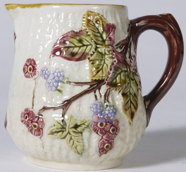 330: Early 20th C. English Majolica Milk Pitcher