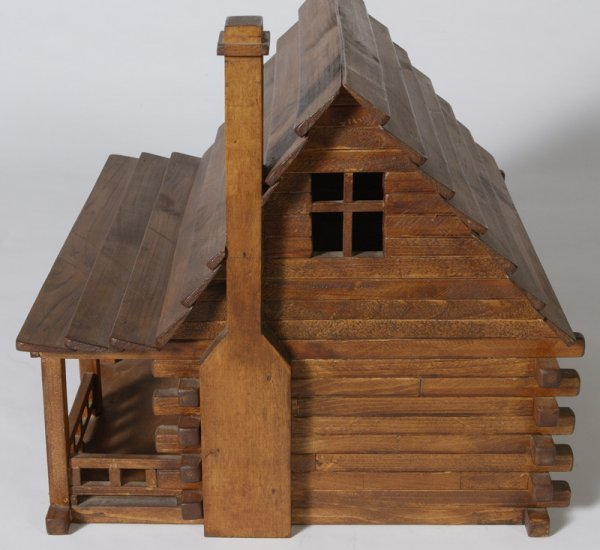 1162: Handmade Childs Log Cabin Doll House - 2