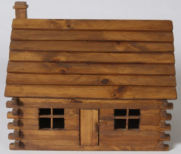 1162: Handmade Childs Log Cabin Doll House - 5