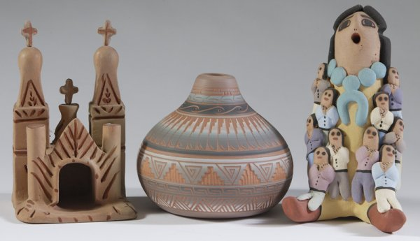 1029: Collection Of 3 Late 20th C. Native American Item