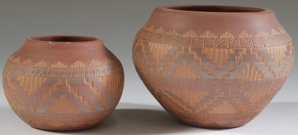 1031: 2 late 20th C. Navaho Pottery Bowls