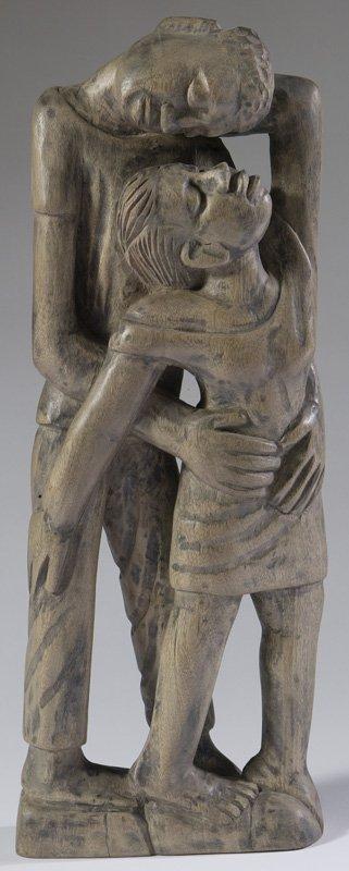 1033: Mid 20th C. Wood Sculpture