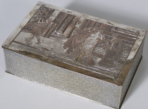 1011: Antique  French Silver-plated Dresser Box