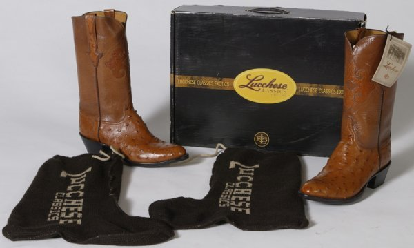 1016: Pair of New Lucchese Classic Leather Cowboy Boots