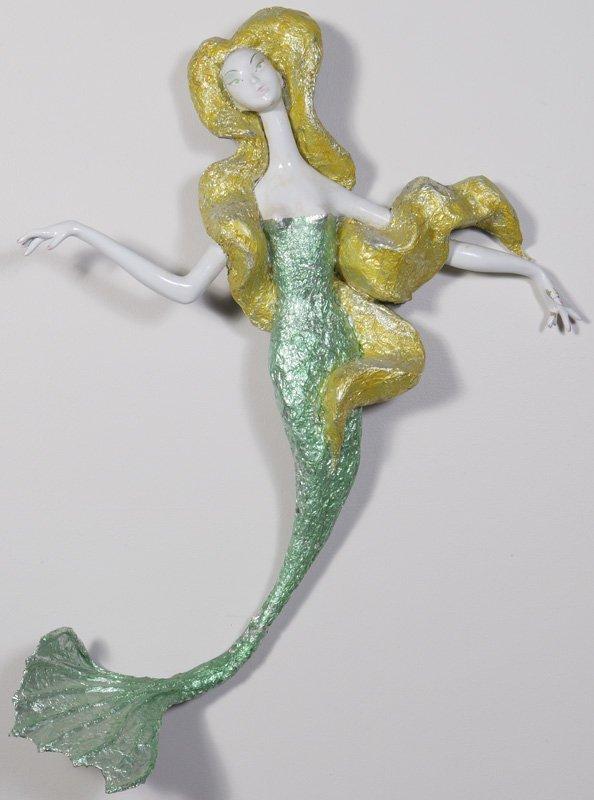 1017: Circa 1960 Handmade Display Artist Wall Figure of
