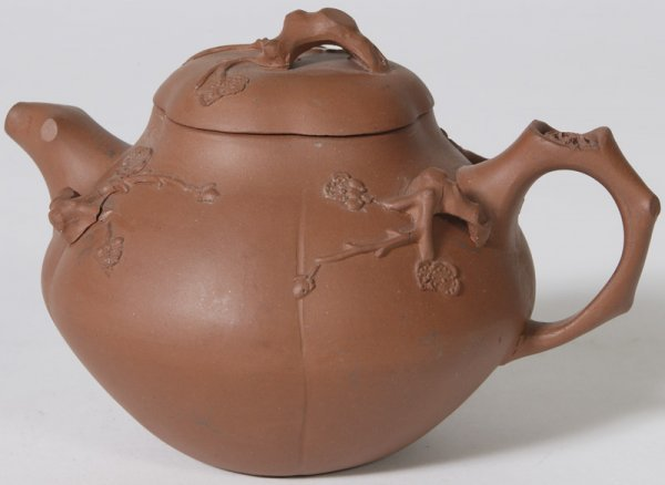 1337: Early 20th C. Bisque Japanese Pottery Teapot