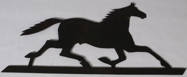 1339: Late 19th C.Wrought Iron Tack Shop Trade Sign