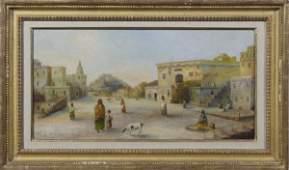 1428: Style of Joseph Henry Sharp, Oil on Canvas, Frame