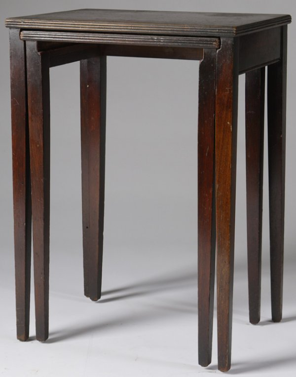 1: Pair of 1940 Small Nesting Tables