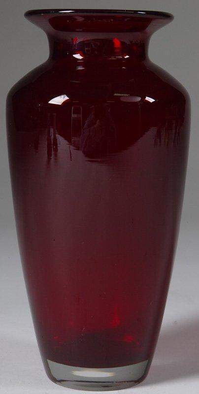 19th C. Tall  Ruby Glass  Vase