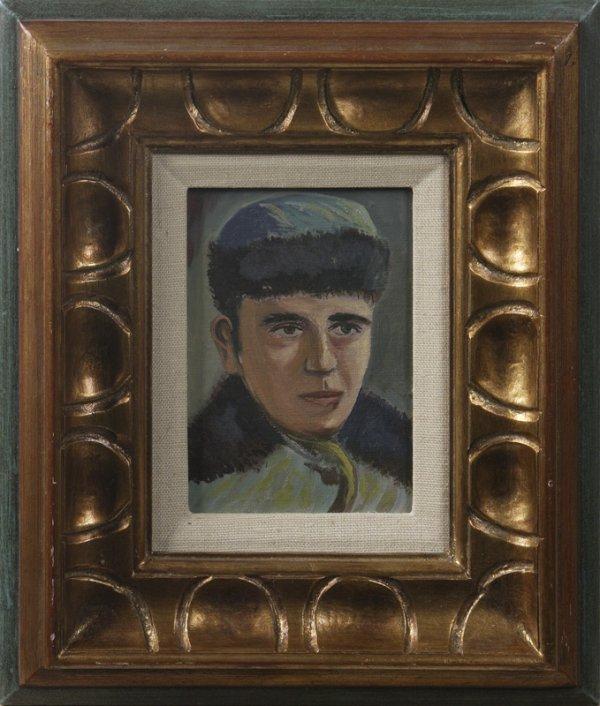 23: Artist Unknown (20th C.) Russian School, Oil On Boa