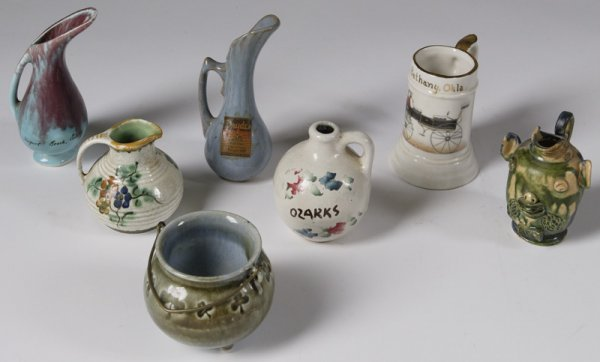 24: Collection Of 7 Small Pottery Table Articles
