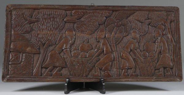 1003: Primitive Carved Wood Panel