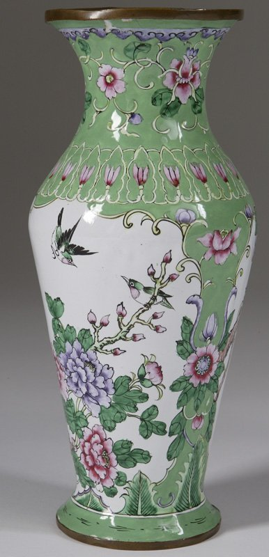 1018: Early 20thC. Enameled  Chinese Vase