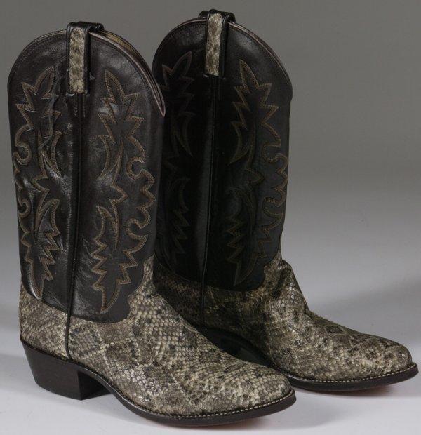 1021: Pair Of Dan Post Diamondback Rattlesnake Boots