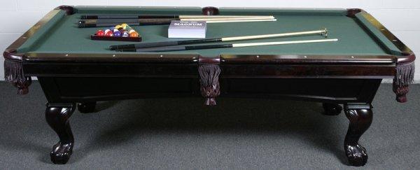 1023: C.L. Bailey Company Mahogany Pool Table