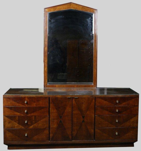 1024: Art Deco Style Henredon 6 Piece Bedroom Suite