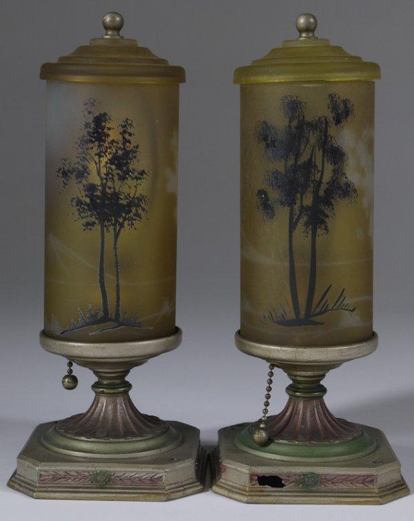 1025: Pair Of Art Deco Light Fixtures