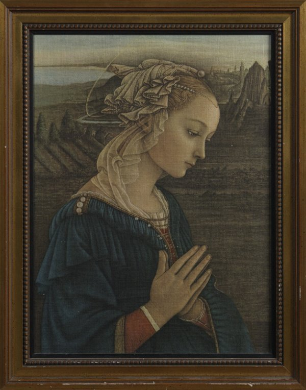 6: Ca. 1950's Lithograph Replica of Old Masters Image