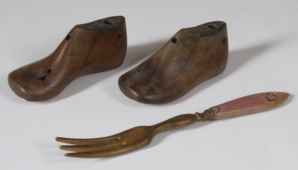10: 3 Late 19th C. Wooden Collectors Items