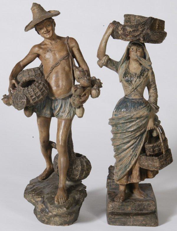 20:Exceptional Pr.Of 19th C. Italian Terracotta Figures