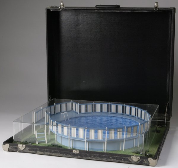 21: Circa 1960 Handmade Pool Salesman Display Miniature
