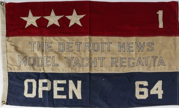 15: Vintage 1964 Detroit News Model Yacht Regatta Flag