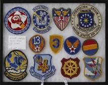 129: Collector's Lot Of 12 WWII Military Patches