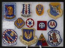 130: Collector's Lot Of 12 WWII Military Patches