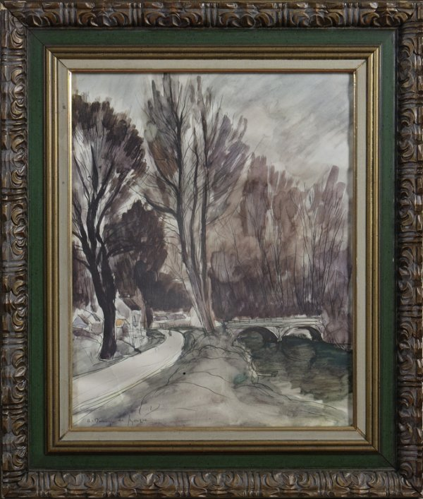 285: Andre Dunoyer de Segonzac (1885-1974) Color Litho
