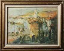 399 F Felmart 20th C Mexican School Oil on Canvas