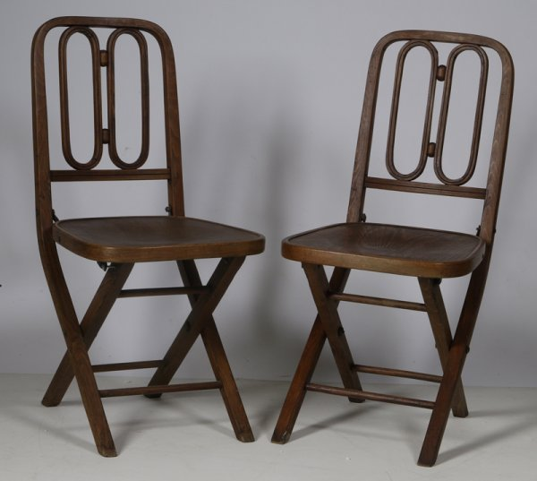 1002: Pair of 1930s Made in Czechoslovakia Chairs