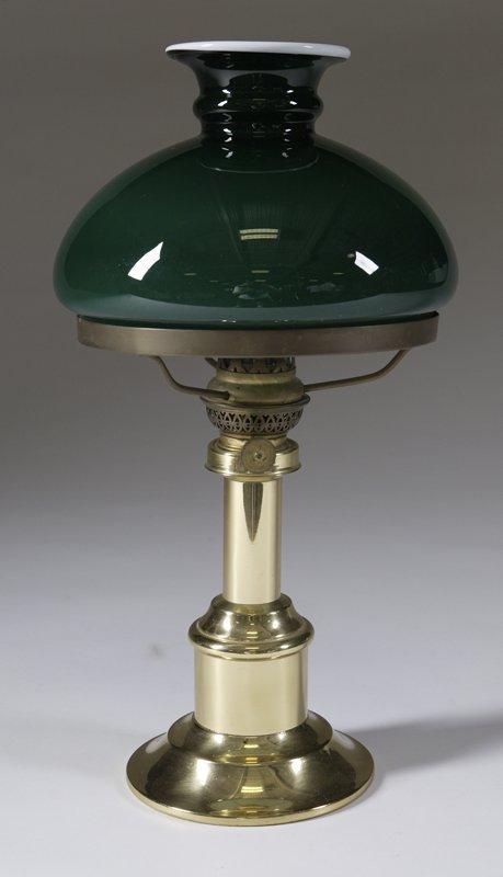 1004: Danish Antique Style Brass Oil Lamp