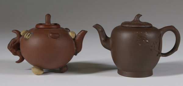 1019: 2 Early 20th C. Asian Pottery Teapots