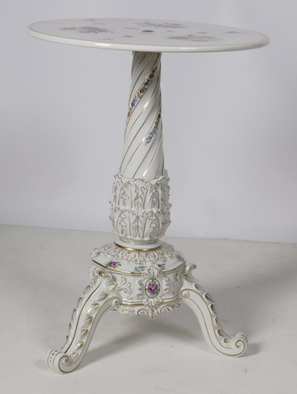 1022: Exceptional 19th/20th C Dresden  Porcelain Table