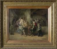 1127: Baldero J.G. (19th Cent.) Italian, Oil On Canvas